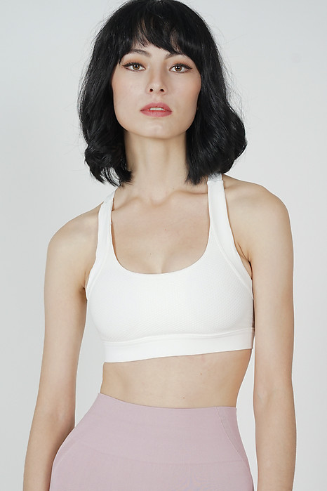 Janis Padded Mesh Top in White
