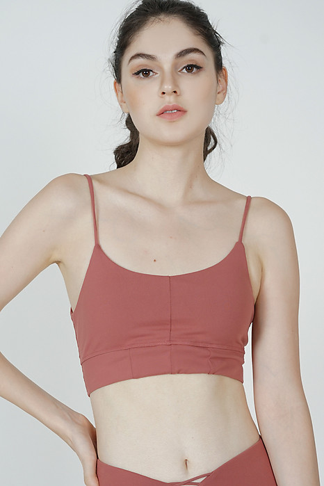 Haiza Padded Cropped Top in Pink