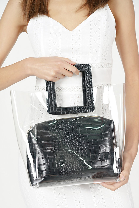 Large See-through Tote Bag in Black - Arriving Soon