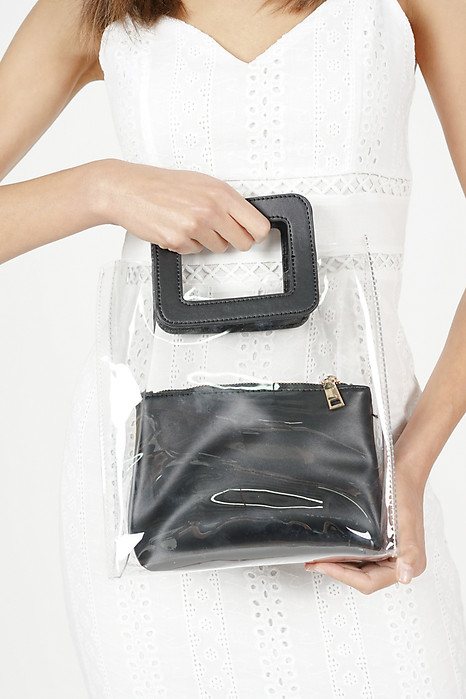 See-Through Tote Bag in Black - Arriving Soon