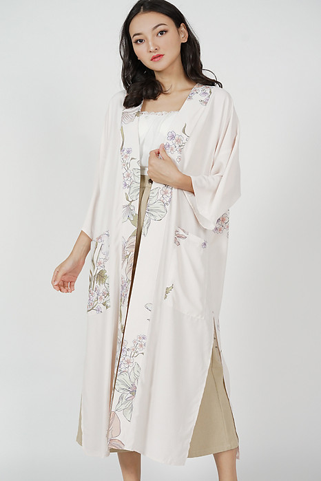 Urzia Duster Kimono in French Vanilla - Arriving Soon