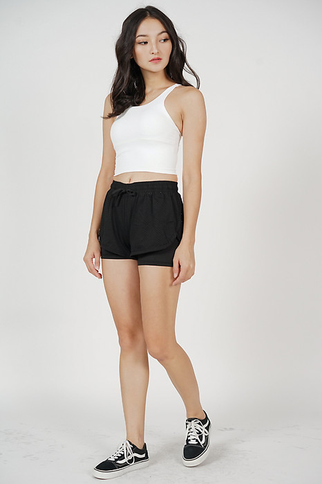 Hadley Mesh Shorts in Black - Arriving Soon