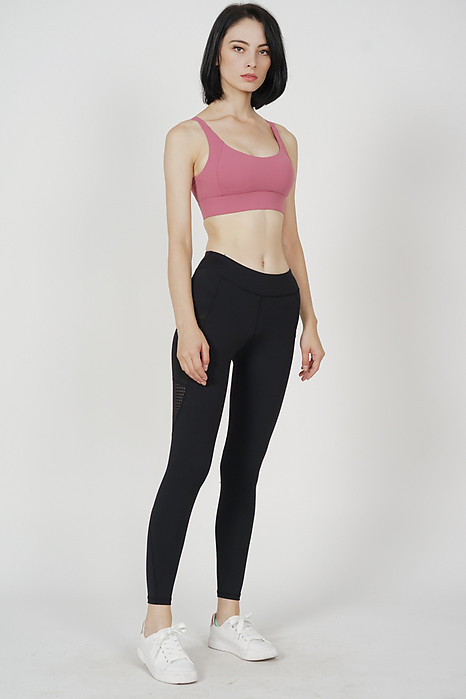 Ember Padded Crop Top in Pink