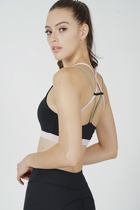 Miara Strappy Crop Top in Black - Arriving Soon