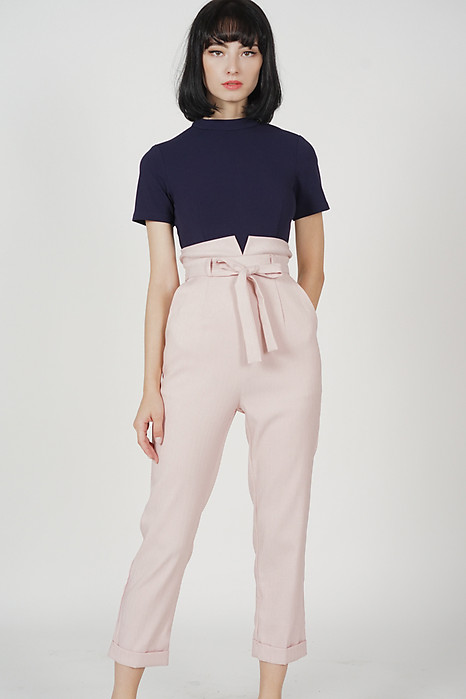Javira Contrast Jumpsuit in Midnight Pink