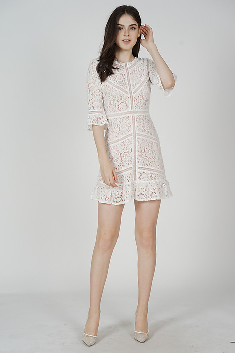 Georgia Lace Dress in White