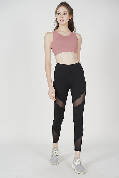 Gordon Mesh Gym Tights in Black - Arriving Soon
