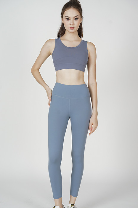 Kailyn Gym Tights in Dusty Blue - Arriving Soon