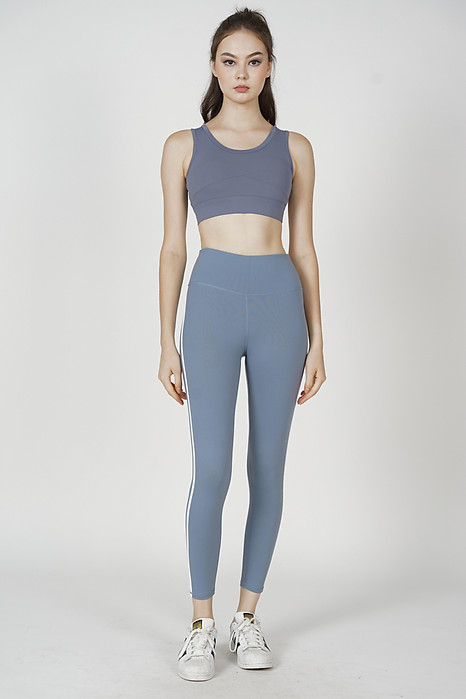 Juhna Cutout Cropped Top in Blue - Arriving Soon