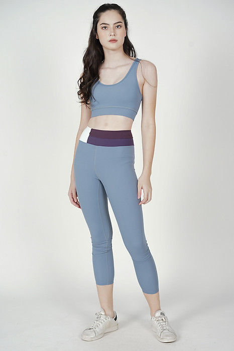 Teana Strappy Padded Top in Ash Blue - Arriving Soon
