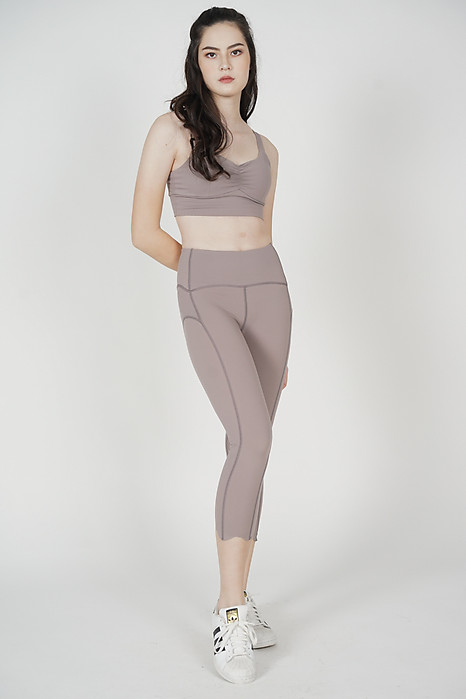 Wendie Gym Tights in Nude - Arriving Soon