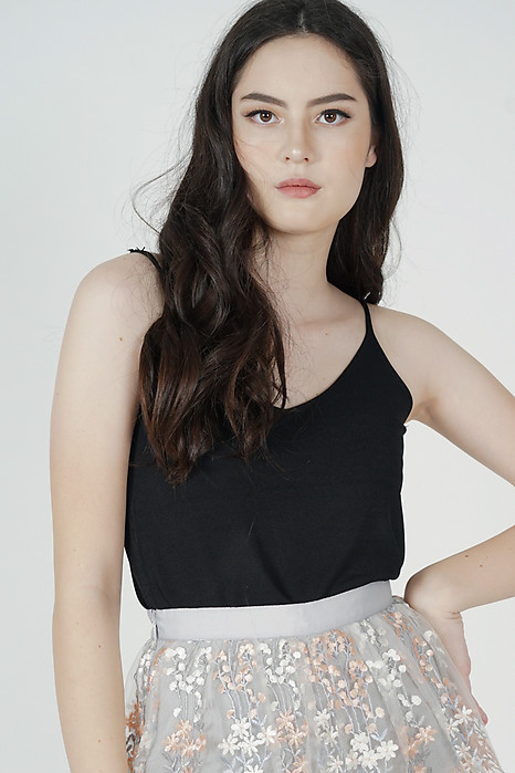 Madina Cami Top in Black - Online Exclusive