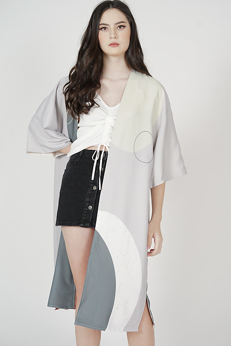 Gweni Reversible Kimono Jacket in Multi - Arriving Soon
