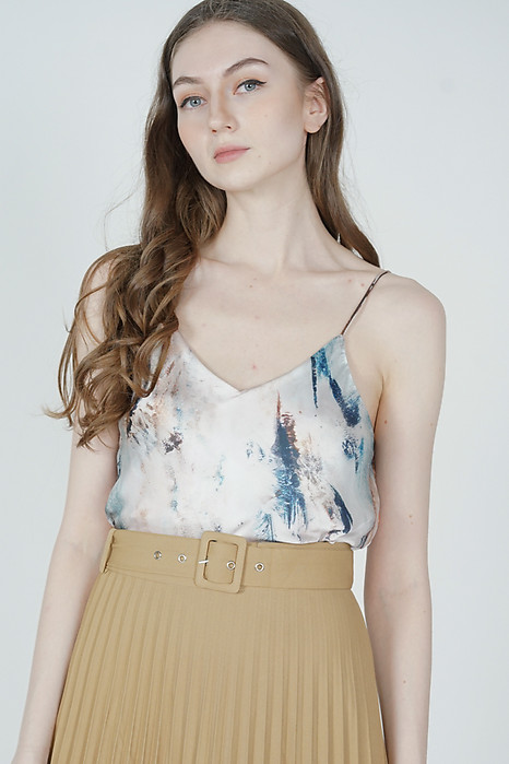 Terrie Cami Top in White Multi - Arriving Soon