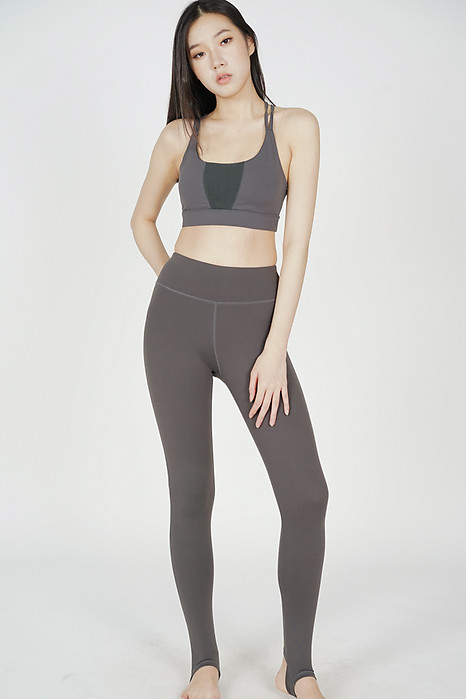 Nisha Stirrup Leggings in Dark Grey - Arriving Soon