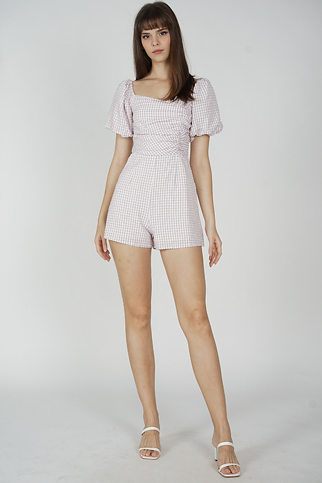 Yooni Puffy Romper in Lilac Pink - Arriving Soon