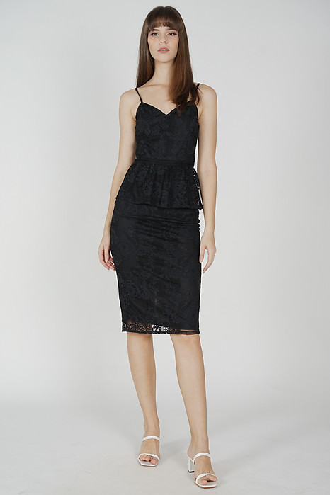 Daycia Lace Dress in Black - Arriving Soon