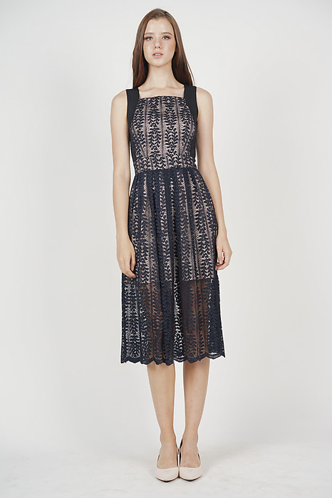 Jovita Lace Dress in Midnight