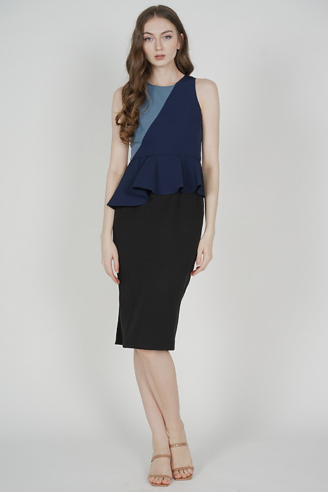 Glorin Contrast Dress in Navy - Arriving Soon