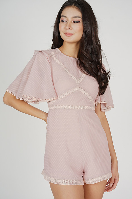 Yuri Flared Romper in Pink - Arriving Soon