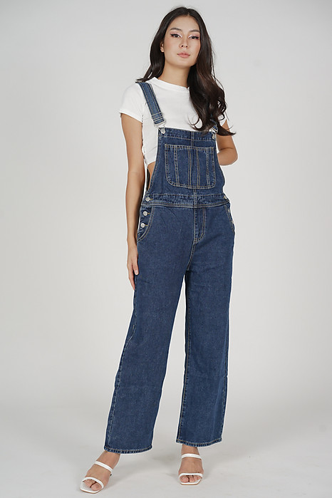 Vallorie Overalls in Dark Blue - Online Exclusive