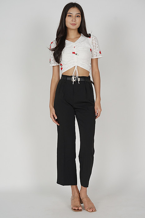 Gina Wide Leg Pants in Black - Online Exclusive
