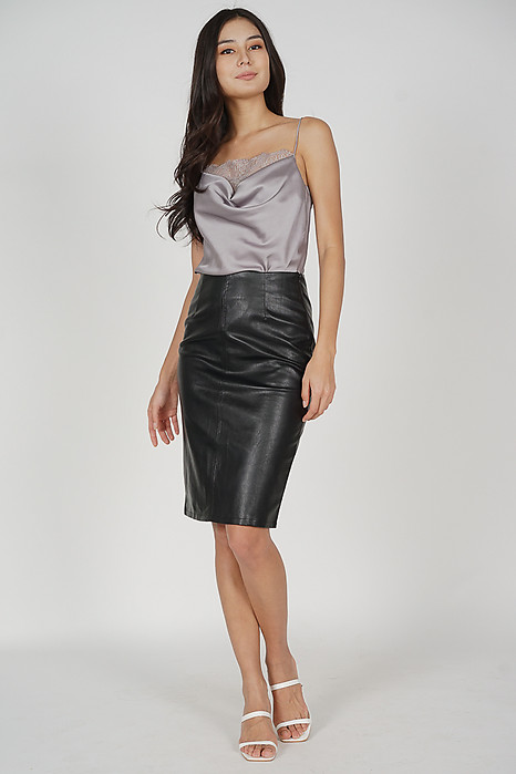 Margo Slit Skirt in Black - Online Exclusive