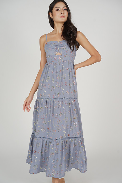 Arleth Maxi Dress in Ash Blue Floral - Arriving Soon