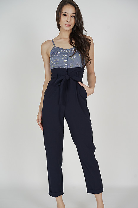 Wedelia Cami Jumpsuit in Blue Floral