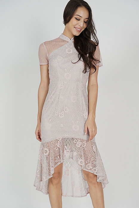 Eishie Lace Dress in Pink - Arriving Soon