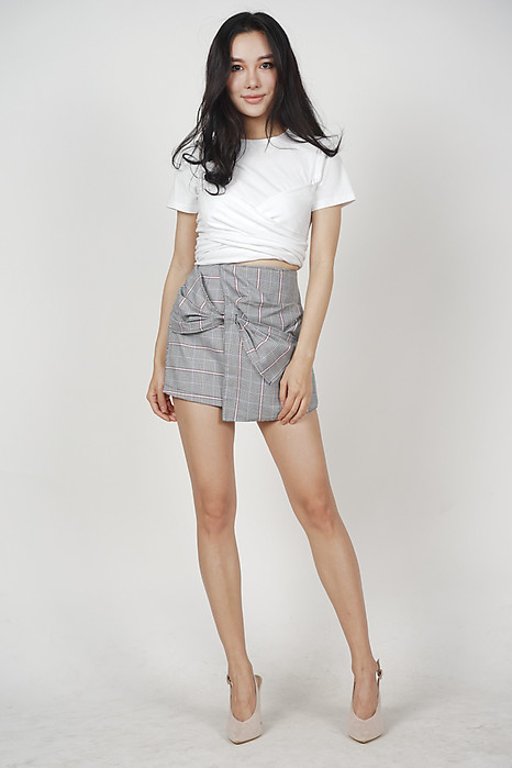Aglea Front Bow Skorts in Checks - Arriving Soon