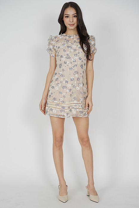 Cherise Embroidered Dress in Cream - Arriving Soon