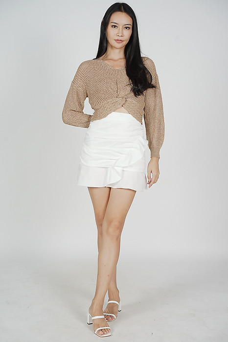 Hera Knotted Top in Khaki - Online Exclusive