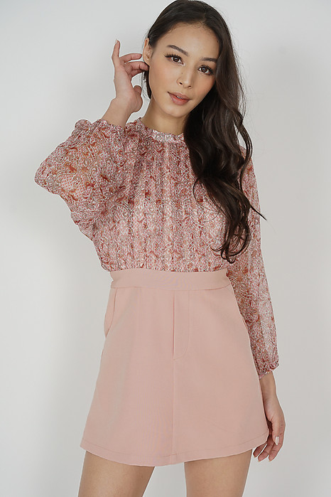 Itzy Sleeved Romper in Pink - Arriving Soon