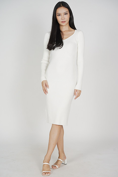 Bervy Long Dress in White - Online Exclusive