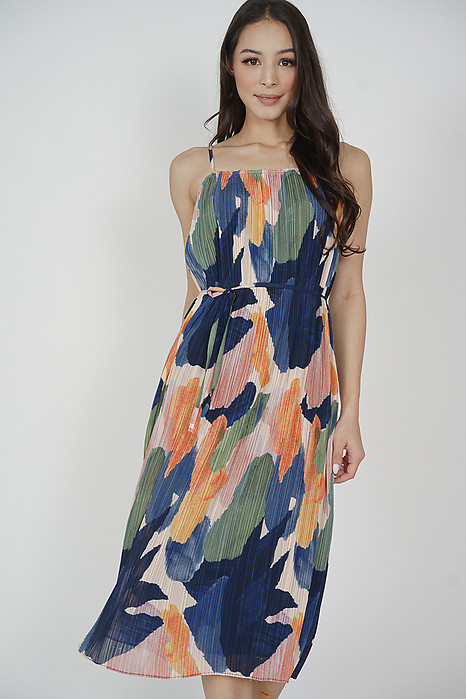 Gerald Cami Dress in Multi Abstract - Arriving Soon