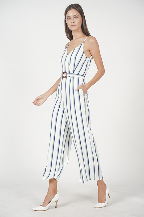 Moira Striped Jumpsuit in Mint