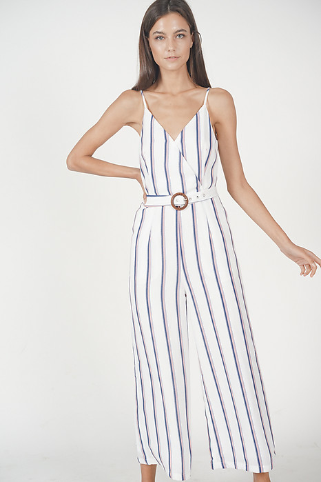 Moira Striped Jumpsuit in Pink