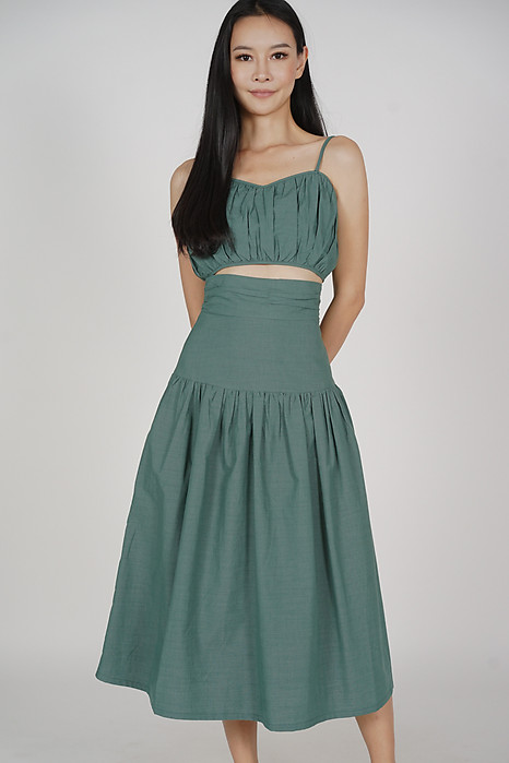 Lalin Drop-waist Skirt in Seafoam - Arriving Soon