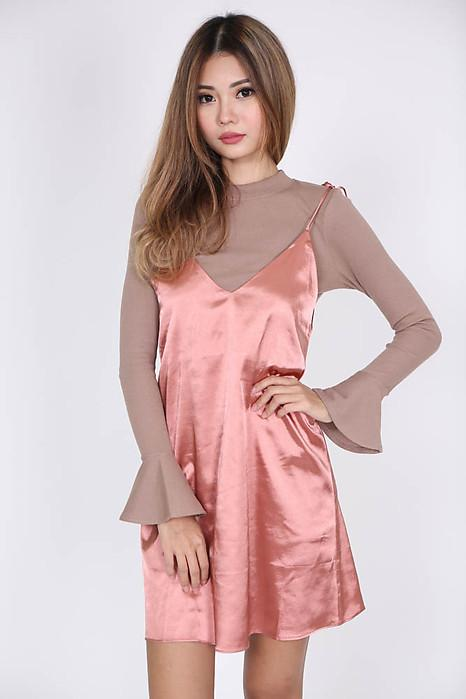 Alana Dress in Champagne Rose