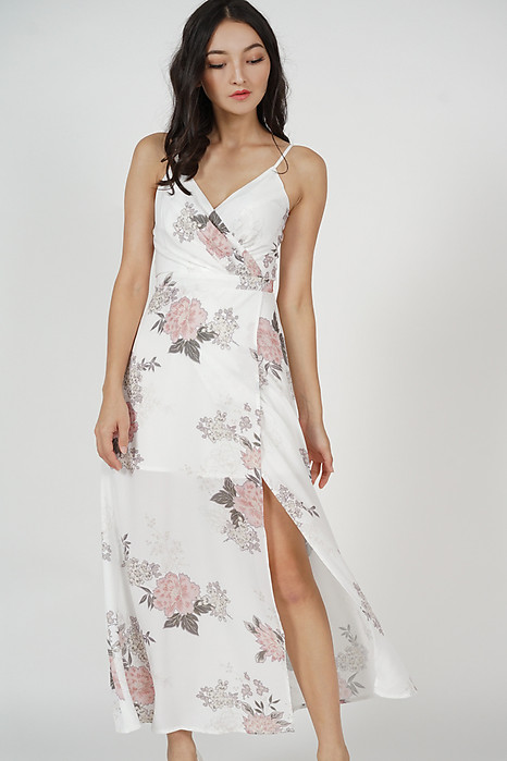 Madelyn Dress in White Floral
