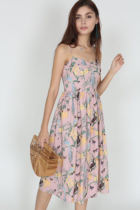 Trollius Flap Dress in Blush