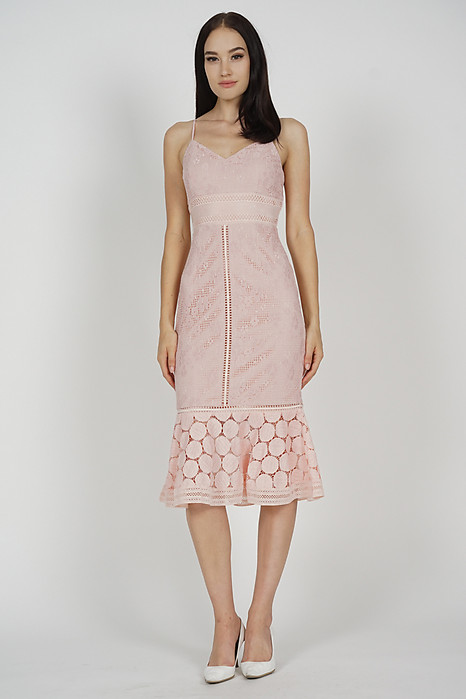 Bellari Lace Dress in Blush Pink - Arriving Soon