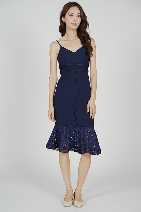 Bellari Lace Dress in Midnight