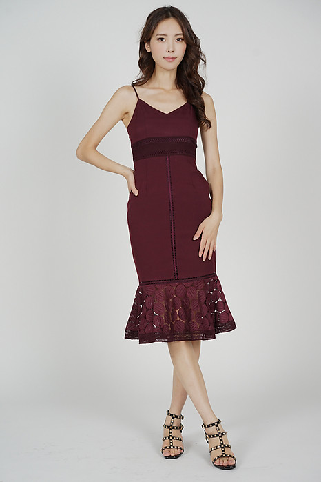 Bellari Lace Dress in Oxblood - Arriving Soon