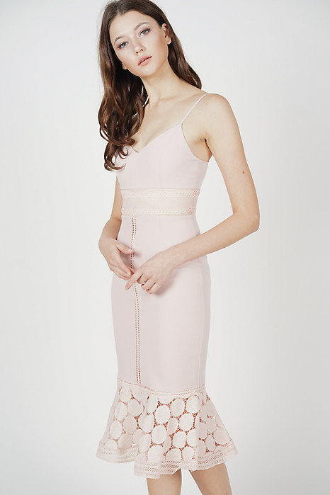 Bellari Lace Dress in Pink - Arriving Soon