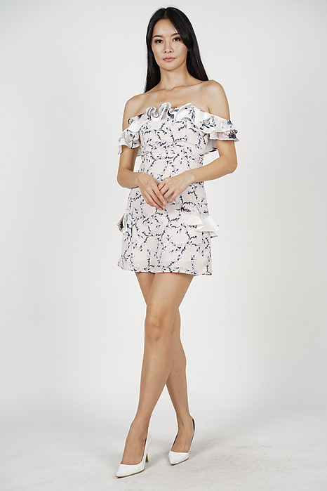 Carrie Frill Dress in Pink Floral - Arriving Soon