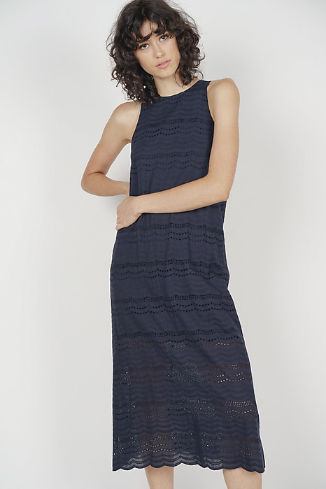 Kylen Straight Dress in Midnight - Online Exclusive