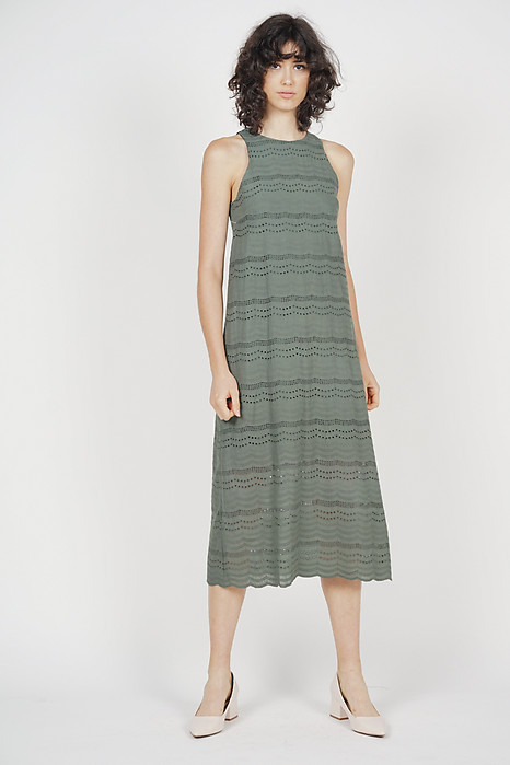 Kylen Straight Dress in Khaki - Online Exclusive