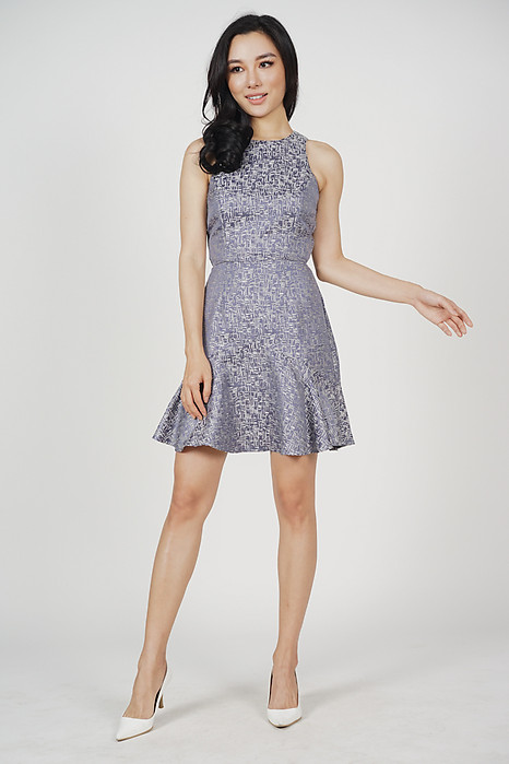 Graciela Flare-Hem Dress in Grey